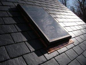 Slate Roof with Skylights